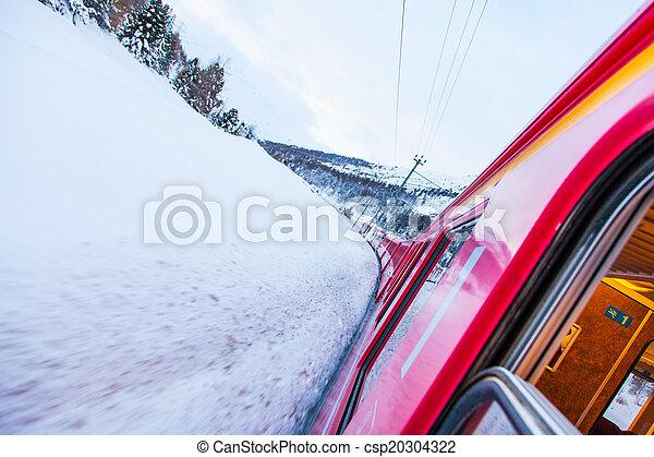 train, neige - csp20304322