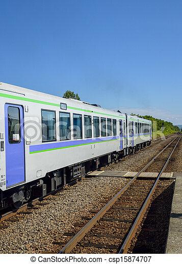 Train on the rail1 - csp15874707