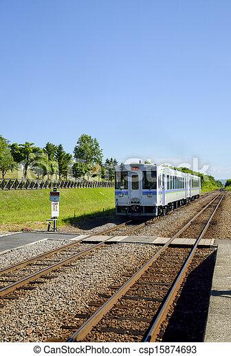 Train on the rail2 - csp15874693