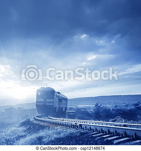 Train on the railroad - csp12148674