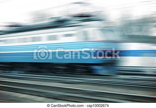 Train on the way - csp10002674