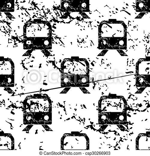 Train pattern, grunge, monochrome - csp30266903