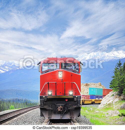 train., rakomány - csp19399535