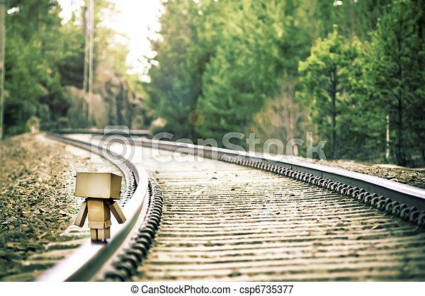 train-road, voyage - csp6735377