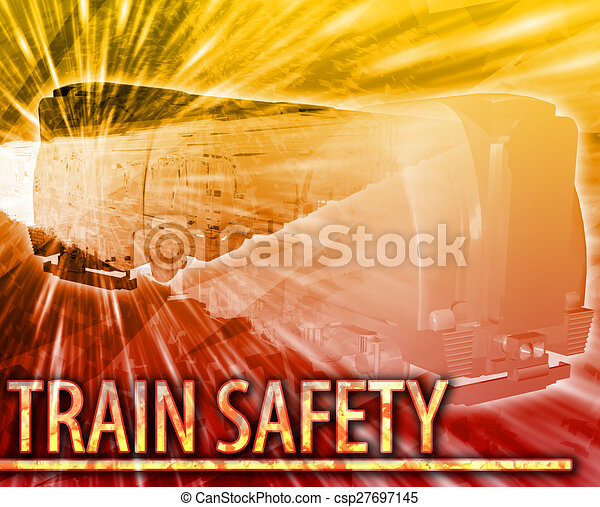 Train safety Abstract concept digital illustration - csp27697145