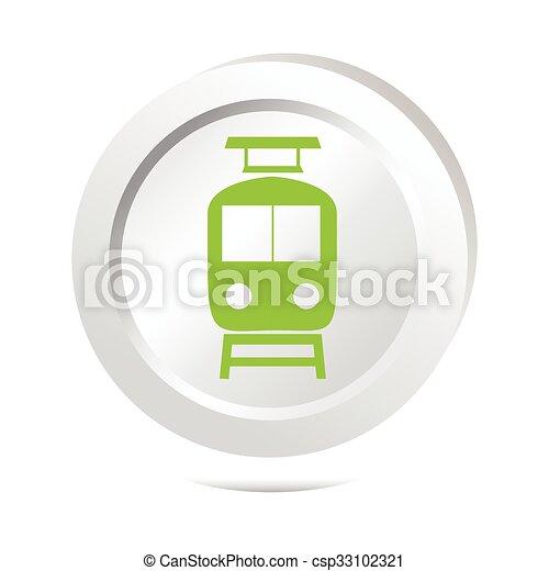 Train sign button icon - csp33102321