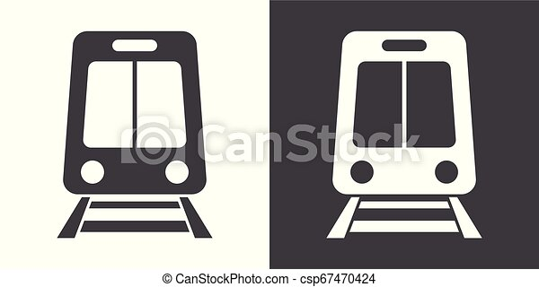 Train sign icon - csp67470424