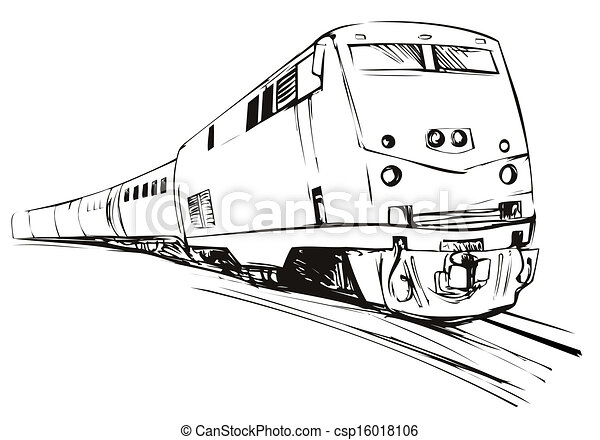 Train Sketch Style - csp16018106