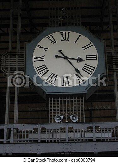 Train Station Clock - csp0003794