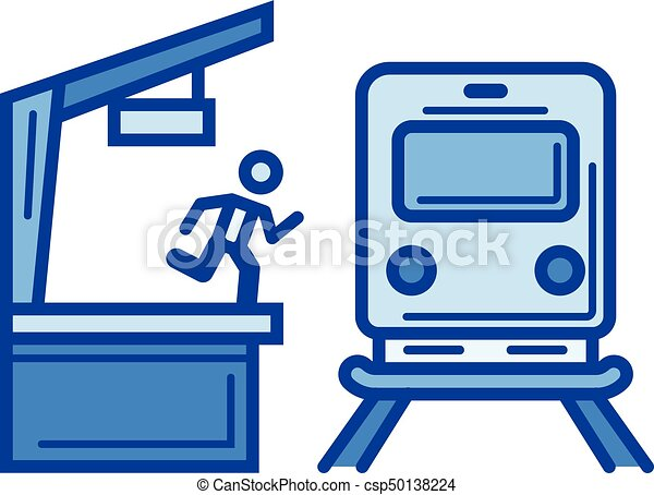 train station line icon train station vector line icon vector rh canstockphoto com train station clipart black and white train station sign clipart