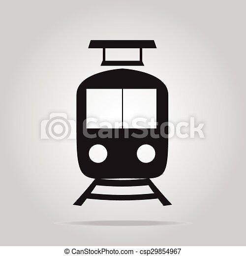 Train symbol icon - csp29854967