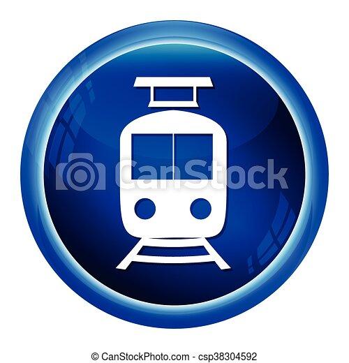 Train symbol ,icon vector illustration - csp38304592