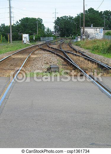 train tracks - csp1361734