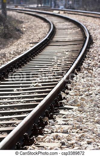 train tracks - csp3389872