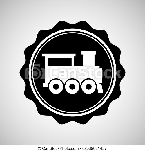 train transportation icon - csp39031457