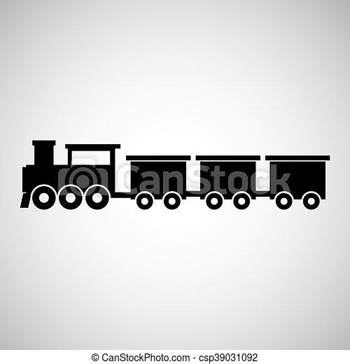 train transportation icon - csp39031092