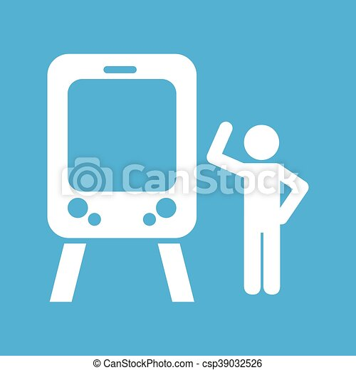 train transportation icon - csp39032526