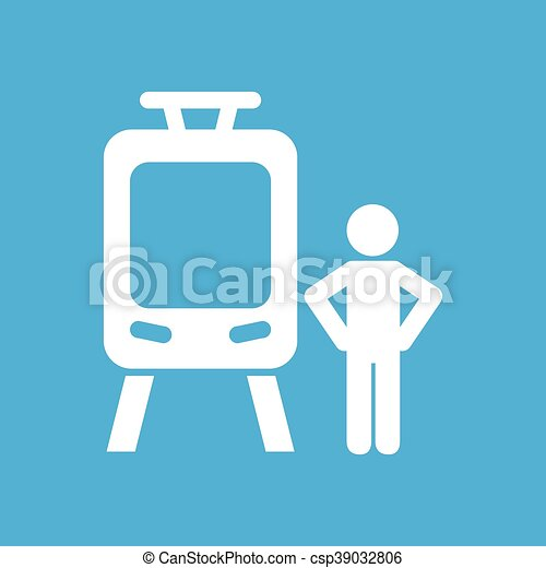 train transportation icon - csp39032806