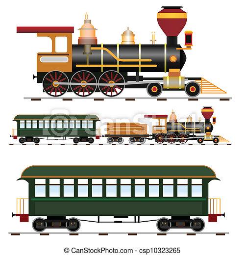 train, vapeur - csp10323265