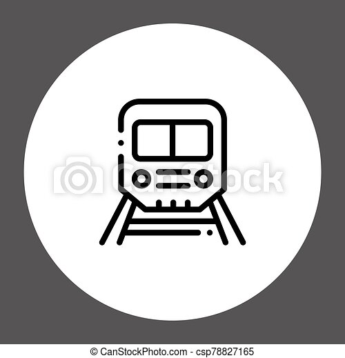 Train vector icon sign symbol - csp78827165