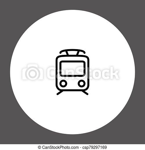 Train vector icon sign symbol - csp79297169