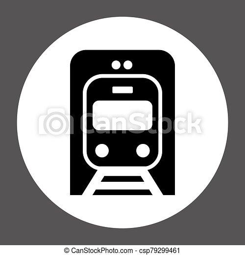 Train vector icon sign symbol - csp79299461