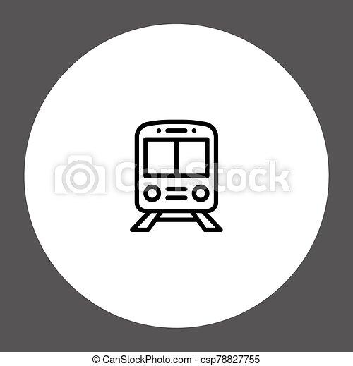 Train vector icon sign symbol - csp78827755
