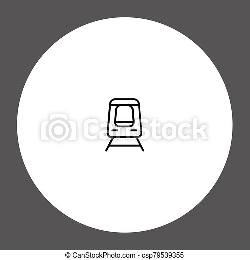 Train vector icon sign symbol - csp79539355