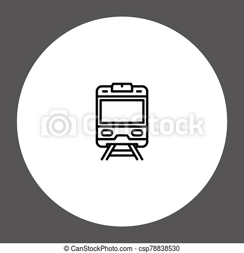 Train vector icon sign symbol - csp78838530