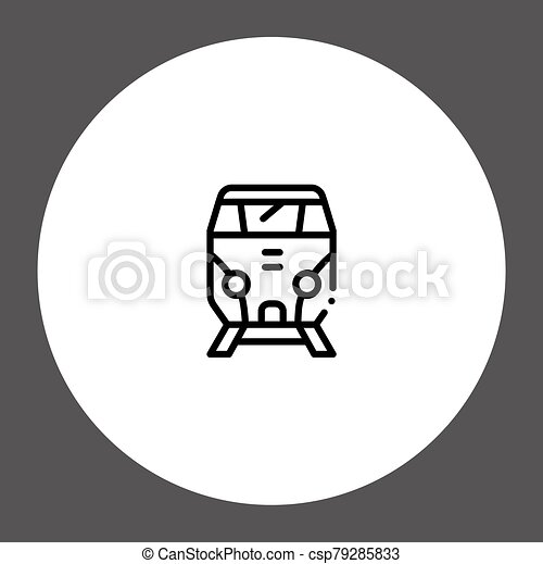 Train vector icon sign symbol - csp79285833