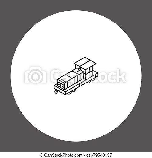 Train vector icon sign symbol - csp79540137