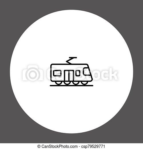 Train vector icon sign symbol - csp79529771