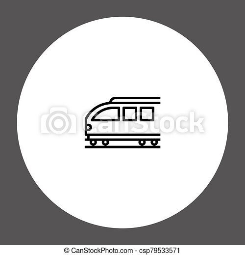 Train vector icon sign symbol - csp79533571