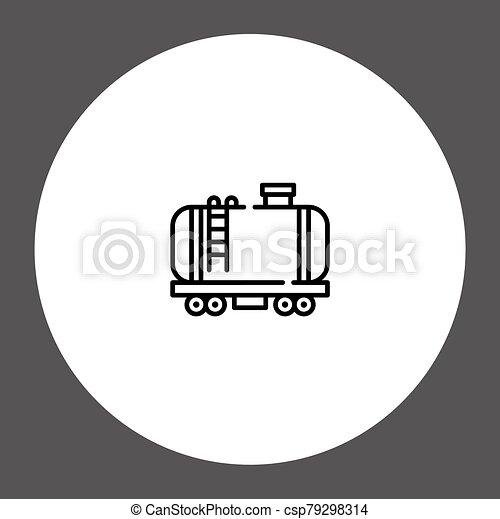 Train vector icon sign symbol - csp79298314