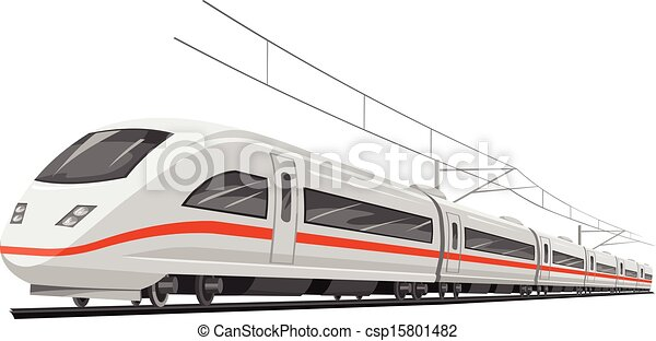 train., vektor, hastighed - csp15801482