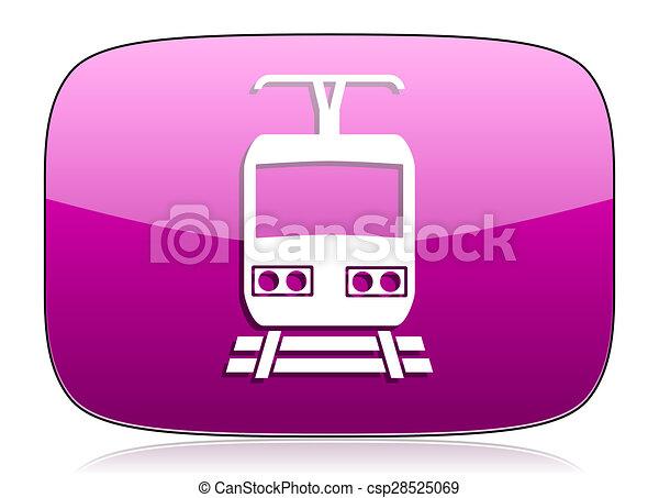 train violet icon public transport sign - csp28525069