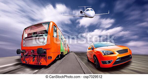train voiture avion sport vitesse photo de stock rechercher images et clipart csp7029512. Black Bedroom Furniture Sets. Home Design Ideas