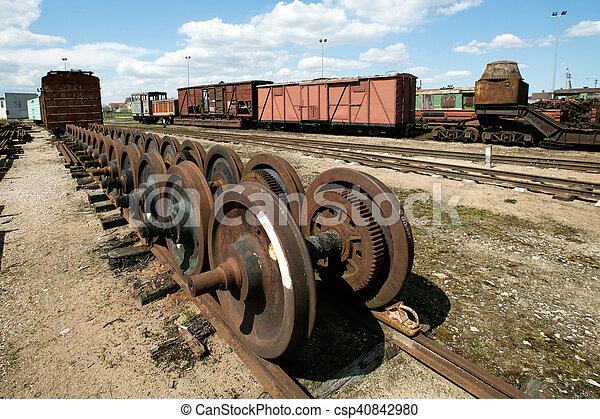 Train wheels - csp40842980