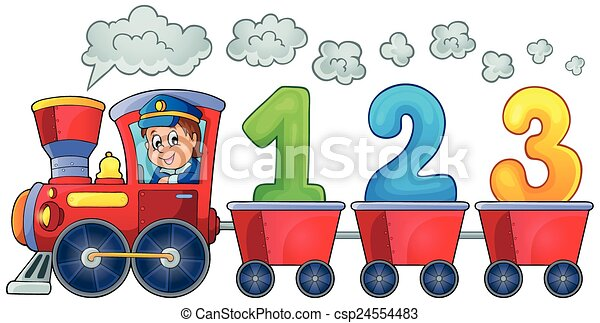 Train with three numbers - csp24554483