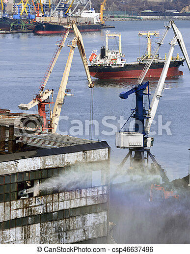 traine, port, fret, charbon - csp46637496