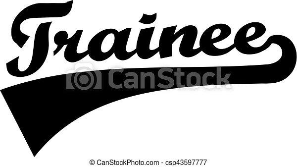 Trainee Retro Word - csp43597777