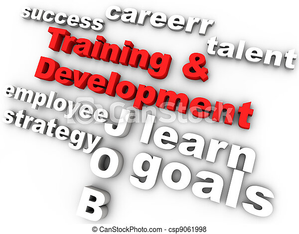 training and development in red surrounded by relevant words - csp9061998
