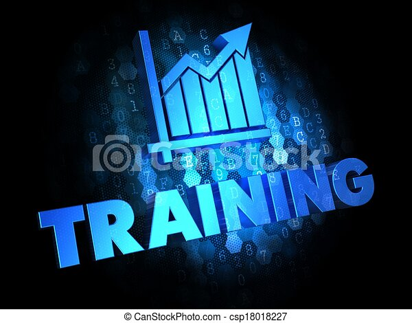 Training Concept on Digital Background. - csp18018227