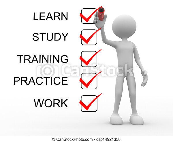 Lernen, lernen, üben, trainieren, arbeiten - csp14921358