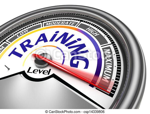 training level conceptual meter - csp14339806