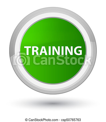 Training prime green round button - csp50765763