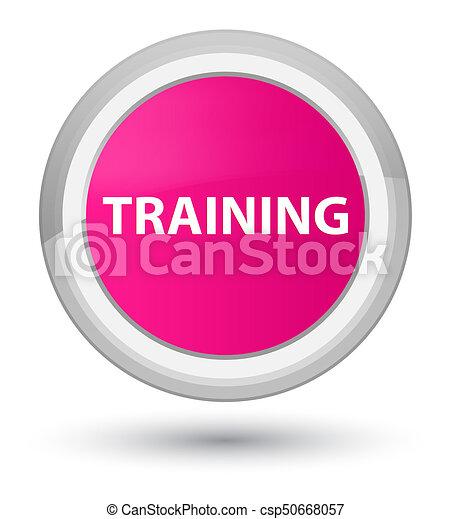 Training prime pink round button - csp50668057