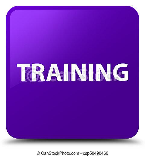 Training purple square button - csp50490460