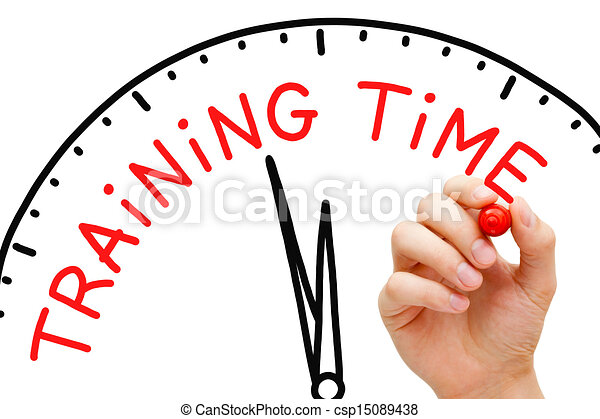 hand writing training time concept with red marker on drawings rh canstockphoto com training clipart images training clipart free