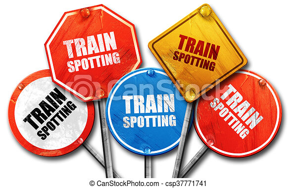 trainspotting 3d rendering rough street sign collection drawing rh canstockphoto co uk